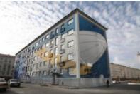 Закончены работы по созданию 3D-картин на фасадах Комсомольской, 33а и Московской