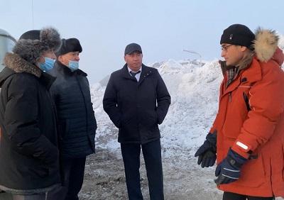 Николай Тимофеев посетил полигон промышленных отходов в Талнахе